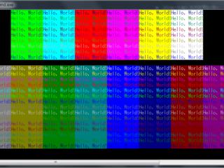 VisualStudioCommunity2017【C言語】で16色の背景色と文字色をコンソール画面に出力に成功!